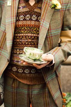Love tweed.  The colors here may be a little spring-y, but I love the bright blue against the rather placid tan.