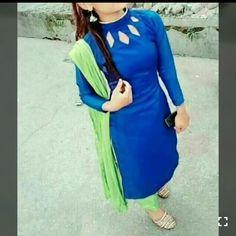 Beautyful n simple Chudidhar Neck Designs, Neckline Designs, Stylish Dress Designs, Blouse Neck Designs, Neck Designs For Suits, Kurti Back Neck Designs, Blouse Styles, Stylish Dresses, Salwar Suit Neck Designs