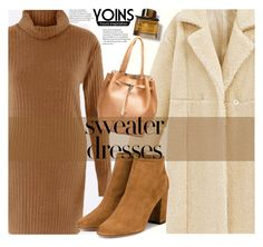 """Yoins"" by fattie-zara ❤ liked on Polyvore featuring Aquazzura, Burberry, turtleneck, applepicking, pumpkin, sweaterdresses and Halloweenvibes"