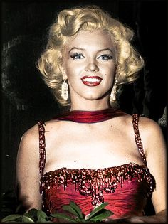 Marilyn Monroe (coloured)