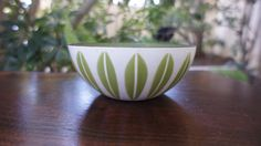 Small 5.5 Cathrineholm Bowl with White  and Green lotus pattern