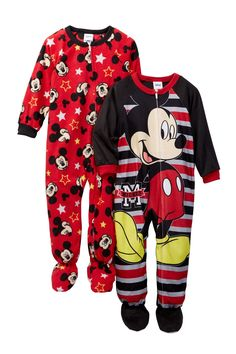 06264e9da4 Mickey Mouse Fleece Footed Blanket Sleepers - Set of 2 (Toddler Boys)