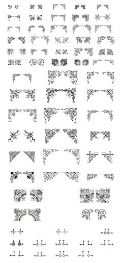 4 Corner Ornaments:
