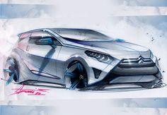 Citroën Concept Sketch by Adonis Alcici