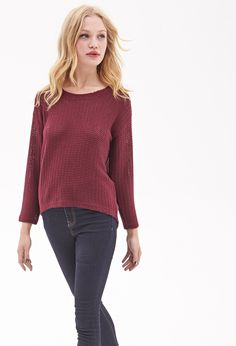 Open-Knit Sweater | FOREVER21 - 2047753271