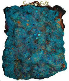 Felted textured wall hanging Turquoise rock  Felt by EniartsFelt