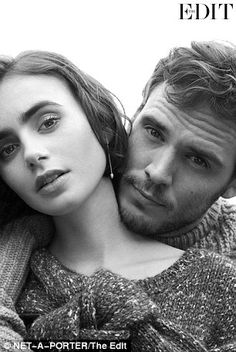 The pair appear in an exclusive photo shoot for Net-a-Porter's online magazine The Edit