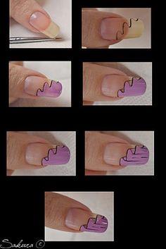 Nail art ribbon