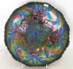 Stag & Holly lg size ftd IC shaped bowl - blue