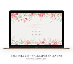 Hey everyone! This month we have a rustic inspired floral wallpaper calendar for you to download and use on your desktop and laptop.