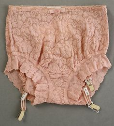 Underpants, (Panties) with garters, early 1960s cotton/lycra no label
