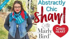 The Free Crochet Pattern Abstractly Chic Shawl Week 2 is the first set of instructions for this 2018 Marly Bird Crochet-Along sponsored by Red Heart Crochet Gifts, Free Crochet, Knit Crochet, Crochet Shawl, Crochet Scarves, Poncho Knitting Patterns, Crochet Patterns, Crochet Tutorials, Vest Pattern