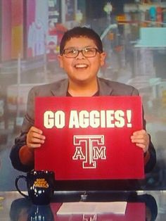 Whoop to Rico Rodriguez (Manny on Modern Family) for showing his support of the Aggies on Good Morning America!