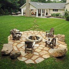 Beautiful garden with limestone tiles and a fireplace #limestone #floor #home #exterior #naturalstone