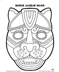 mayan mask template - Google Search