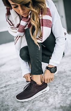 I usually hate the look of gym shoes with anything other than for a quick jaunt to work out, but these are super cute and chic!