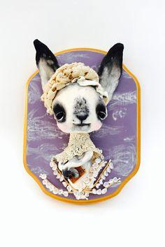 Ooak Spun Cotton Anthropomorphic Bunny Sweet by silkandthistle