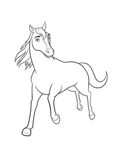 Spirit Riding Coloring Pages Printable Free - Free Coloring Sheets Horse Coloring Pages, Coloring Sheets For Kids, Cartoon Coloring Pages, Disney Coloring Pages, Coloring Pages To Print, Adult Coloring, Horse Pencil Drawing, Spirit The Horse, Kids Party Themes