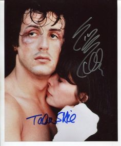 ROCKY cast SYLVESTER STALLLONE & TALIA SHIR signed