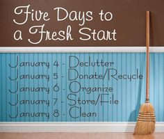 #8 Get organized! Declutter and revamp your home! Not much feels better than knowing where everything is and having a nice clean home.  http://www.harvardhomemaker.com/over-100-ideas-to-help-you-organize-your-home-and-your-life/