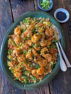 Prawn Fried Rice, Shrimp And Rice, Fried Shrimp, Shrimp Recipes, Rice Recipes, Cooking Recipes, Healthy Recipes, Prawns Fry, Supper Recipes