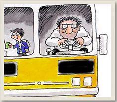 Una idea por día!  Colocar en todos los micros un tablero con opciones predefinidas enumerando las faltas que puede cometer el chofer, para poder quejarnos y establecer un control que sirva para mejorar el servicio de transporte. Qué les parece?