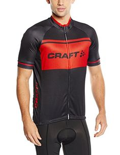 Craft Classic Logo Jersey  Short Sleeve  Mens BlackHeat M -- More info could be found at the image url.Note:It is affiliate link to Amazon.