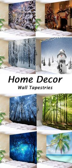 home decor ideas for bedroom:snowman and forest