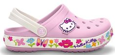 Just ordered these for Kaeleigh! Crocs Hello Kitty Kids Clogs: 19.99 + FREE Shipping! #shoes