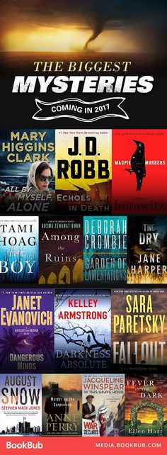 Some of the year's best mystery books to read. Everything from detective mysery books to crime mystery books.