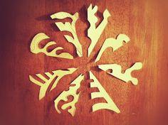 Paper snowflakes patterns