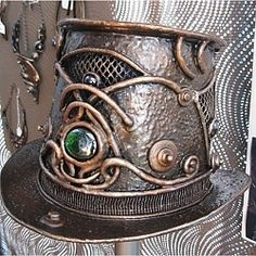 Steampunk Top Hat-- metal