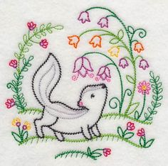 Vintage Embroidery Designs Machine Embroidery Designs at Embroidery Library! Embroidery Transfers, Embroidery Patterns Free, Learn Embroidery, Crewel Embroidery, Hand Embroidery Designs, Vintage Embroidery, Cross Stitch Embroidery, Embroidery Thread, Applique Designs