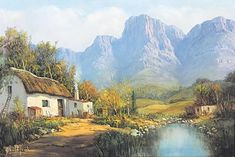 Gabriel Cornelis de Jongh - Related Artist Discovery - Gabriel Cornelis de Jongh Landscape Art, Landscape Paintings, Landscape Photography, Oil Paintings, Gabriel, South African Artists, Art For Art Sake, Art Studios, Painting & Drawing
