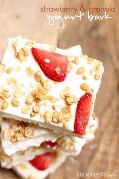 Conquer ice cream cravings with homemade yogurt bark instead. | 7 Healthy Snacks You Need To Try Immediately