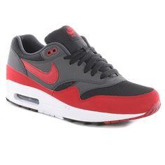 Nike Air Max 1 Shoes - Black-Gym Red