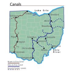 Ohio Canal Map Ohio 4th Grade Social Studies Ideas In 2019 Ohio