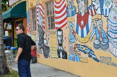"""PBS Digital Studios visits Little Havana with WPBT2 to work on a unique collaborative project. Hint: """"Say Hello America""""  Check out more photos here: http://lnkd.in/gm57i8 #quepasausa #littlehavana #pbsdigitalstudios"""