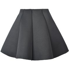 Choies Black Structured Pleat Mini Skater Skirt ($12) ❤ liked on Polyvore featuring skirts, mini skirts, bottoms, black, mini skater skirt, pleated skater skirt, pleated circle skirt, pleated miniskirt and short skirts