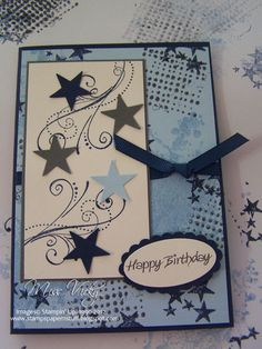 Happy Birthday...Stamp Set - Extreme Elements...By:Miss Vicky..stampspapernstuff