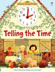 Usborne Books & More. Telling the Time.  I'm using this book to teach my preschoolers how to tell time.  It is working great!  Love finding the duck on every page too.