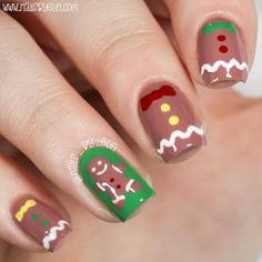 Gingerbread Nails and Recipe | NailsByErin