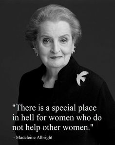 Madelein Albright  (1937 - ) first woman to be appointed US Secretary of State
