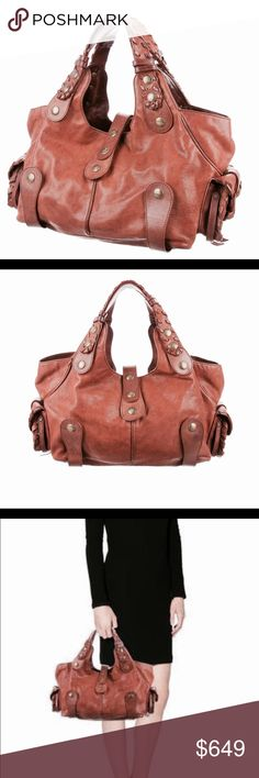 9e2e3cd8675 Classic CHLOE Satchel Bag in deep Rust brown Authentic CHLOE most  recognizable satchel bag in a