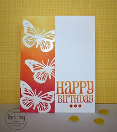 Happy Little Stampers - Butterfly Birthday and Bold Birthday Sentiments by Barb Ghig