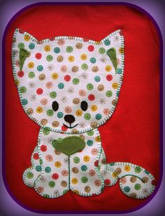 cutest cat applique I have ever seen Applique Templates, Applique Patterns, Applique Quilts, Applique Designs, Embroidery Applique, Quilting Designs, Quilt Patterns, Dog Quilts, Cat Quilt