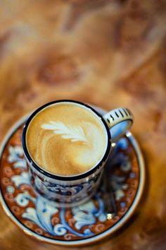 Fig leaf coffee design