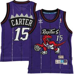 f0cb51d8ac1a Youth Toronto Raptors Vince Carter adidas Purple Hardwood Classics Soul  Jersey. Basketball Legends ...