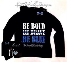 Police clothing  police wife  the thin blue by Knot2ShabbyDesigns