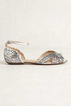 @officinadeiricami - #wedding #shoes - Gabiru D'Orsays silver sandals from Schutz - anthropologie